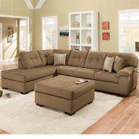 Simmons Malibu Mocha 2-Piece Sectional With Four Pillows ...