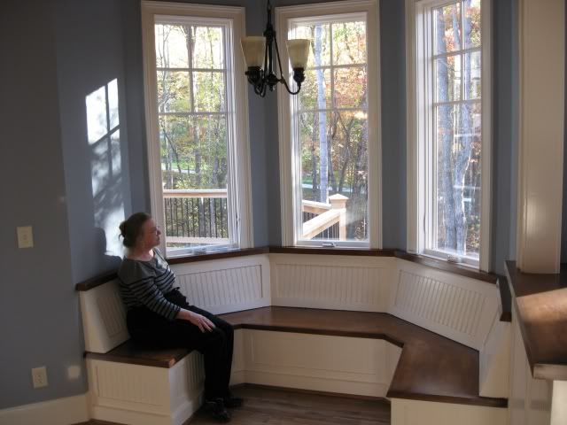 banquette bench kitchen ikea pull out pantry small breakfast nook octagon shape - google search | home ...