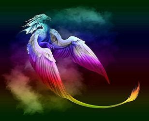 dragon rainbow fantasy dragons creatures mythological fire background mythical hd purple horse neon cool spirit creature wikia fanpop wallpapers phoenix