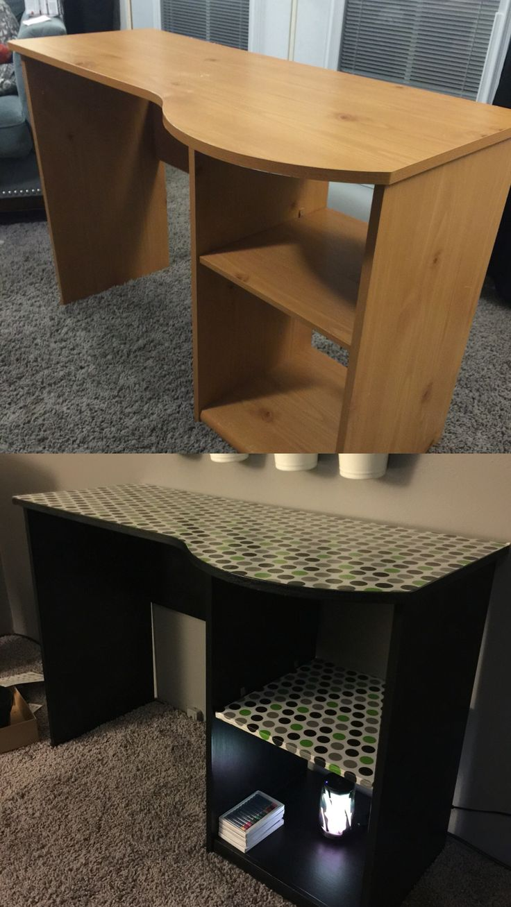 I Gave This Boring Laminate Desk A Makeover Using Chalky