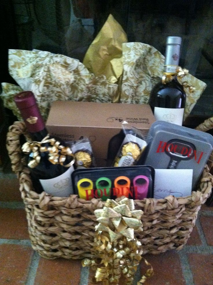 Wine Basket I Made For A Bridal Sower Awesome Ideas