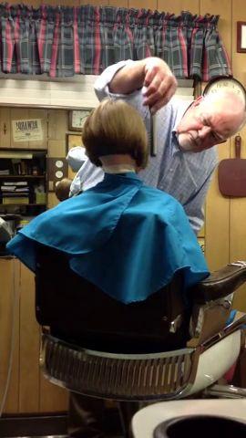 Bob Haircut Neckline Finish  Kids barbershop cuts