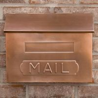 "Horizontal ""MAIL"" Wall-Mount Copper Mailbox - Antique ..."