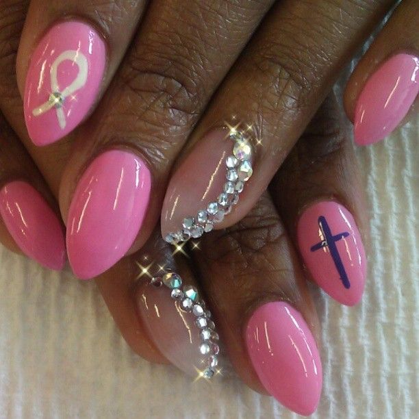 75 best images about Breast cancer nails on Pinterest