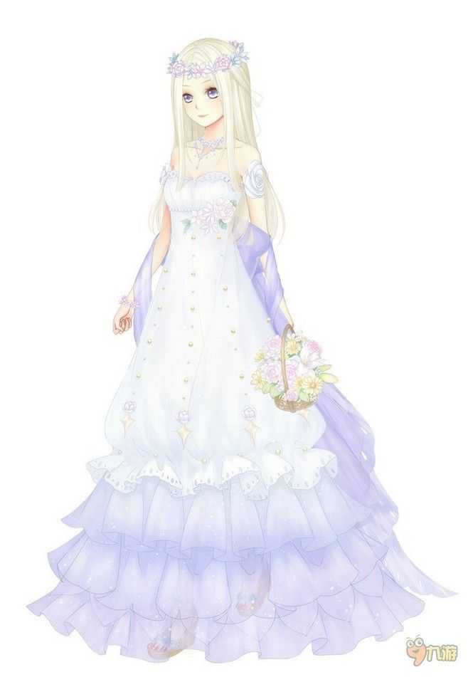 Anime Girl Wedding Dress 1