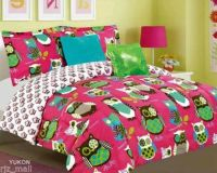 Tween Teen Bedding Pink with Owl Bed in A Bag Comforter ...