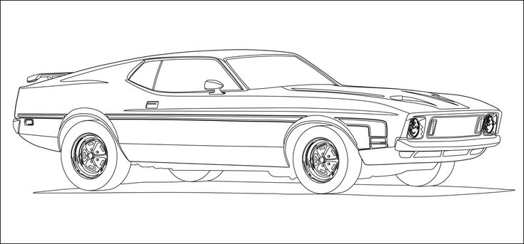 17 Best images about Mustang coloring pages on Pinterest