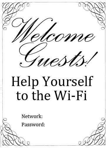 17 bästa idéer om Wifi Password Printable på Pinterest
