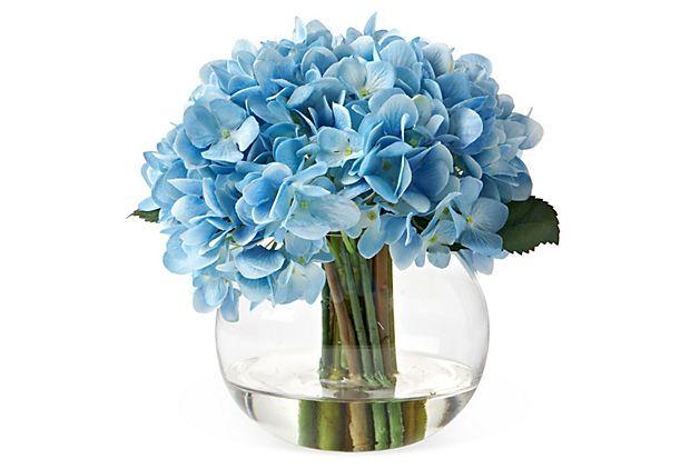 Hydrangea in Bubble Vase Blue on OneKingsLanecom  For the Home  Pinterest  Vase Blue and