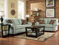 Living Room with seafoam green couches. Too serene ...