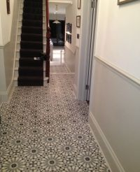 Encaustic Tiles (Barcelona 460) in hallway | Stairs ...