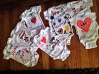 Baby shower, Decorated onesies | Baby Shower | Pinterest ...