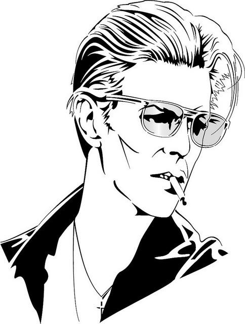 David Bowie Vector Portrait by Vectorportal.com