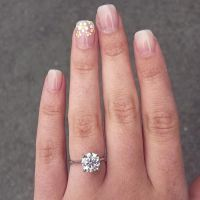 Petite Cathedral Solitaire Engagement Ring in Platinum ...