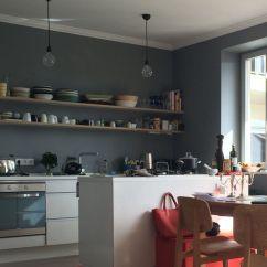 Kitchen Counters Ikea Tall Wall Cabinets Farrow & Ball Plummett   Graue Wände Pinterest ...