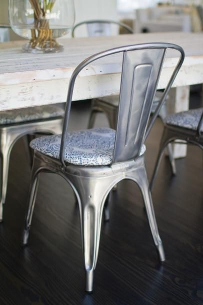 17 Best ideas about Metal Dining Chairs on Pinterest