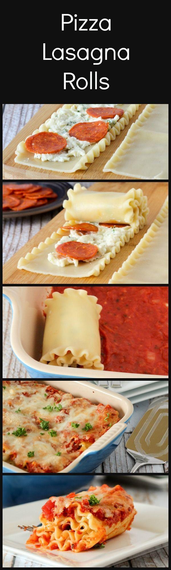 Pepperoni Pizza Lasagna Rol