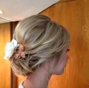 great loose updo medium length