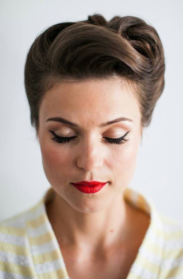 Best 20 50er Frisur Ideas On Pinterest 60er Make Up