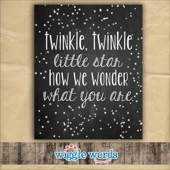 Twinkle Twinkle Gender Reveal Party Decor, Twinkle Twinkle Baby Shower Decor by WiggleWords