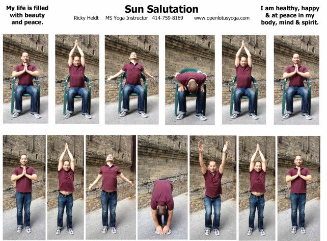 yoga chair exercises for seniors hanging indoor chairs sun salutation handout | seated pinterest student-centered resources, ...