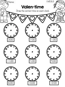 Valen-time >> Telling time to the hour >> Part of the