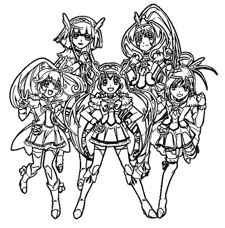 Smile Pretty Cure Coloring Coloring Pages