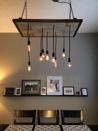 DIY rustic industrial chandelier   For the Home ...