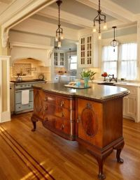 Antique as an kitchen island. Great stove & sink | My ...