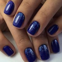 Best 25+ Blue nails ideas on Pinterest | Royal blue nails ...