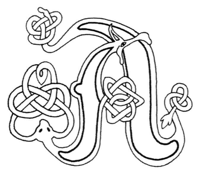 Gaelic Alphabet Pages Coloring Pages