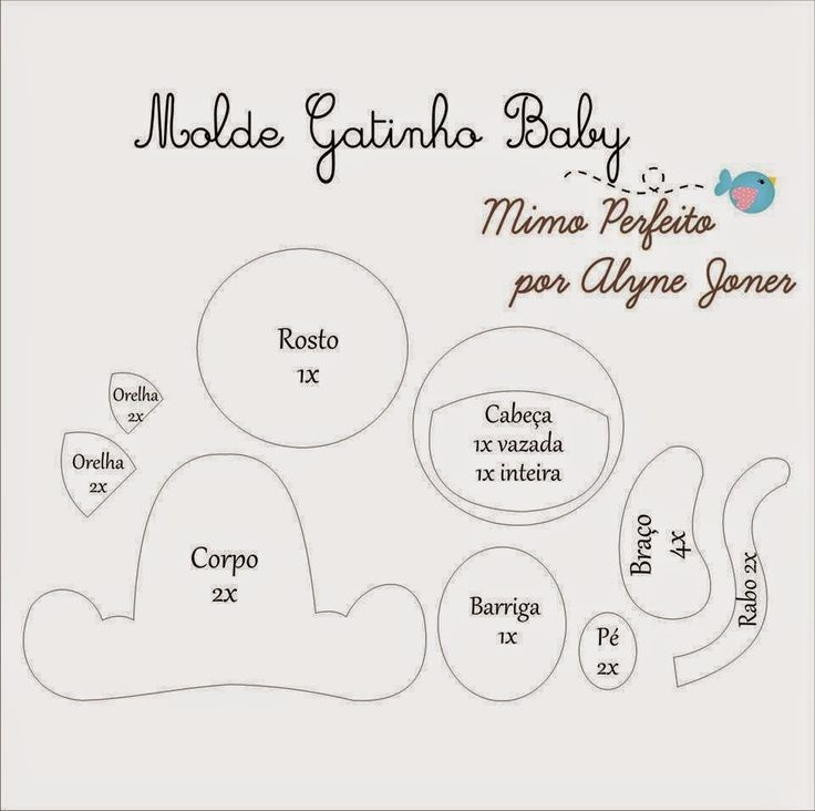 16 best images about Moldes Baby Bichos on Pinterest