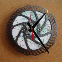 Recycled bicycle parts wall clock | recycled bicycle parts ...