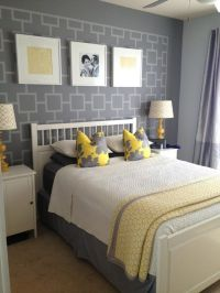 25+ best ideas about Gray yellow bedrooms on Pinterest