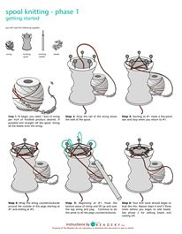 17 Best images about spool knitting with beads on Pinterest