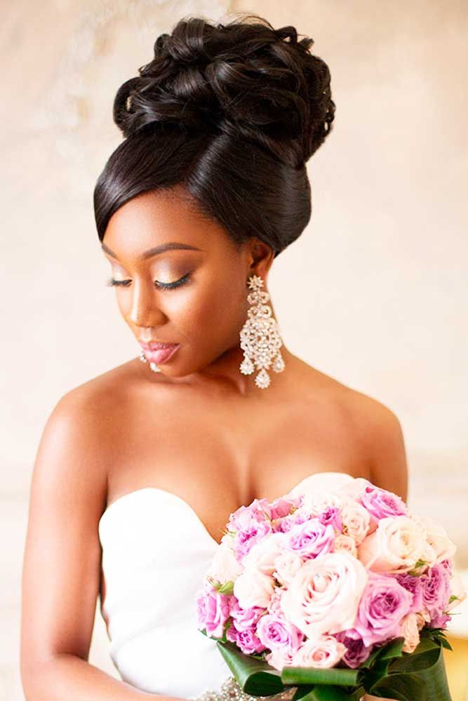 25 best ideas about Black wedding hairstyles on Pinterest  Wedding hairstyle Hairstyles for