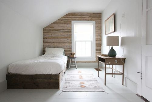 Love this wooden feature wall Looks great around the
