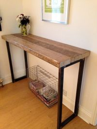Industrial Mill Reclaimed Wood Breakfast Bar/Console Table ...