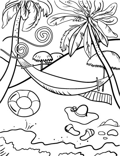 17 Best ideas about Beach Coloring Pages on Pinterest