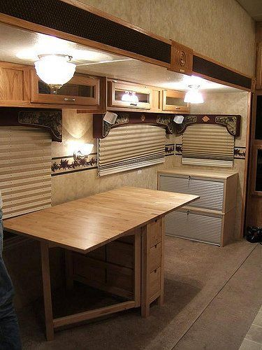 tiny kitchen remodel different kinds of countertops rv office conversion: good bye dinette – jayco eagle ...