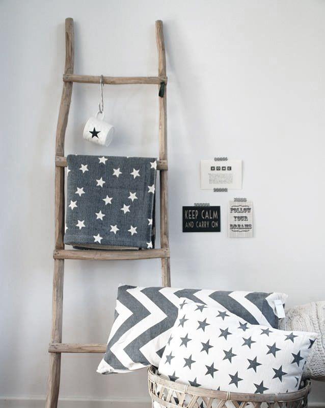 Decorations Ladder Gray Grijs Kussens Cushion