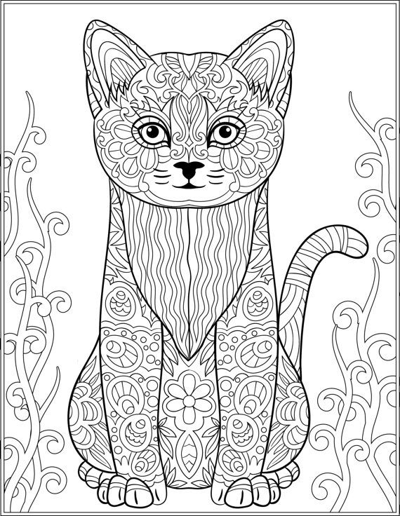 Cat Stress Relieving Designs & Patterns Adult by