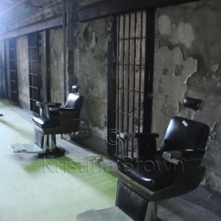 Old Barber Chairs Purple Lounge Chair Prison Photography Abandoned Jail Photo Missouri State Penitentiary Cell Block ...