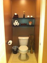 Finally did our master bathroom toilet room!! Got the idea ...