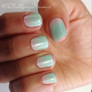 mint ombr nails gel nail