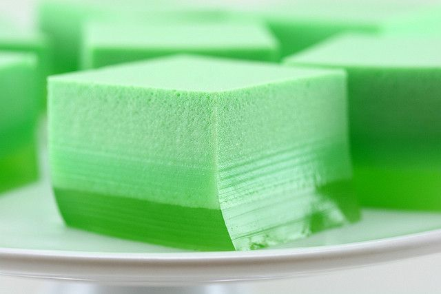 St. Patrick's Day Ice Cream Jello – Mix 12 oz lime Jello, 1 pkg unflavored gelating, 4 cups boiling water once dissolved add 1