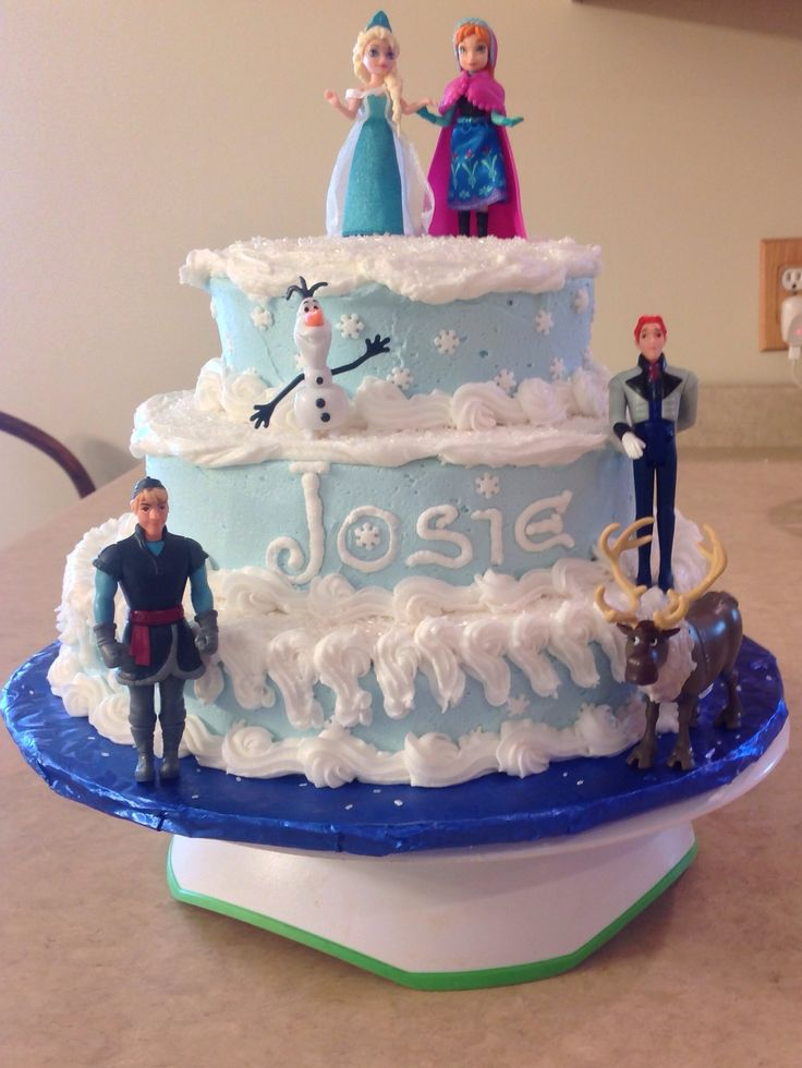 Disney Frozen Birthday Cake Cakes By Me Pinterest