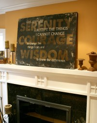 Serenity Prayer Wall Art..I would love this on my wall ...