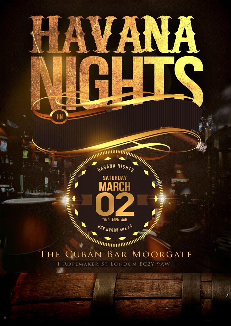 Havana Nights Flyer Gala Pinterest Havana Nights
