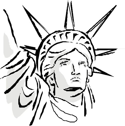 25+ best ideas about Statue of liberty drawing on